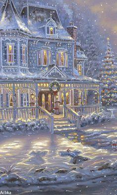 weihnachten bilder My dream house in the country someday as well . Christmas Scenes, Noel Christmas, Victorian Christmas, Vintage Christmas Cards, Christmas Pictures, Christmas Greetings, Winter Christmas, Winter Snow, Christmas Ideas