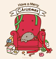 Have a Merry Christmas from Pusheen merry christmas happy christmas christmas quote pusheen christmas greeting christmas friend