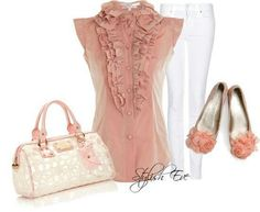 Love this! The color, the ruffles, the shoes love it all!
