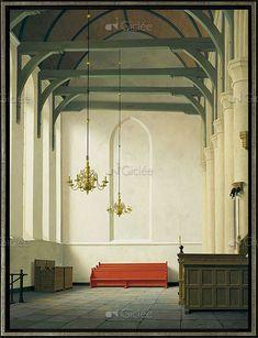 De zuidbeuk van de St. Nicolaaskerk in Monnickendam Modern Art, Contemporary Art, Italian Renaissance Art, Mansion Interior, City Painting, Magic Realism, Z Arts, Dutch Painters, Museum