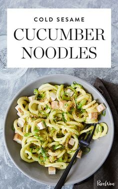 Thanks to store-bought marinated baked tofu, thesecold sesame cucumber noodlesare hearty enough for lunch or dinner. Get the recipe.