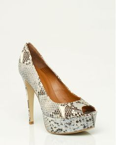 Italian Made Leather Python Pump..... like mine, but mine has low heels than this