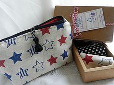 Kit make up bag, stars de la boutique Mauveetcapucine sur Etsy