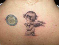 Small Angel Tattoos for Back