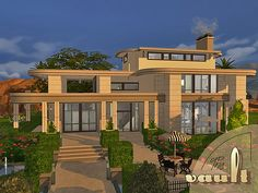 The VAULT house by fredbrenny at TSR via Sims 4 Updates
