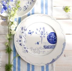 What Kate Loves . Not on the High Street . Wild Garden Sketches Plate . { a stunning botanical plate . perfect for hanging on the wall or placing on your table . almost too lovely to use } .