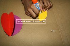 DIY christmas tree paper ball ornament - rainbow paper ball