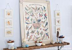For the Birds Spring Mantel