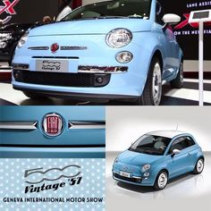 International Motor Show brings back the iconic style of historical this year like never before. Please meet the all new 500 Vintage -- Ricordate gli stilemi che hanno reso 500 un'icona? Fiat 500c, New Fiat, Fiat Panda, Pt Cruiser, Morris Minor, Small Cars, Car Car, Geneva, Automobile