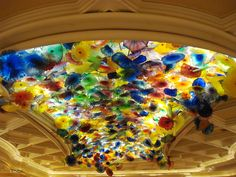 Balagio Hotel, Las Vegas. All glass, flower, chandler. Do they ever fall down?