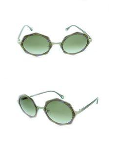 Occhiali da Sole Raen Mod. Luci Col. Patti & Japanese Gold da donna in acetato striato verde e viola, forma ottagonale.  http://www.occhialifacili.com/prodotto/occhiali-sole-raen-mod-luci-col-patti-japanese-gold/