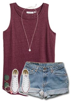 """Meet me, Kc"" by preppy-girls-with-pearls ❤ liked on Polyvore featuring H&M, Kendra Scott, Ray-Ban and Jigsaw"