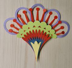 wycinanki patterns   Wycinanki #002: Fan Flower Heads   PaperMatrix