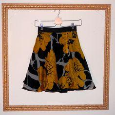Yellow Flower Skirt by restlessweaver on Etsy