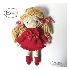 crochet doll red