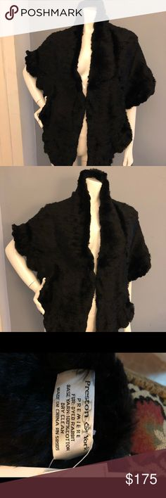 Black Rabbit Fur Wrap Gorgeous 100% Black Rabbit Fur Wrap.  This would make a great gift for yourself or someone else!! Preston & York Accessories Scarves & Wraps