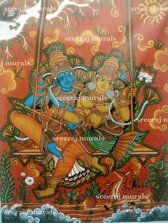 Githopadesam kerala murals pinterest mural painting for Asha mural painting guruvayur