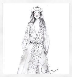 Sketched to perfection. Submitted by @carolinasanz. (Instagram: marchesafashion)