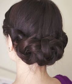 Braided floral updo tutorial - cute style for spring
