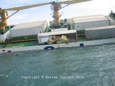 Tilted Cargo Ship