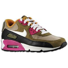 Nike Air Max 90 - Women\u0026#39;s - Bamboo/Sail/Medium Olive/Black