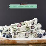Frozen Blueberry Yogurt Bark