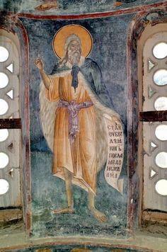Илья Фесфитянин, прор Byzantine Icons, Byzantine Art, Tempera, Fresco, Church Interior, Orthodox Icons, Mural Painting, Kirchen, Mosaic