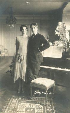 Kronprinz Leopold von Belgien mit Prinzessin Astrid von Schweden als Verlobte