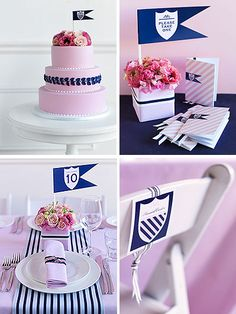 Love the light pink and navy stripes
