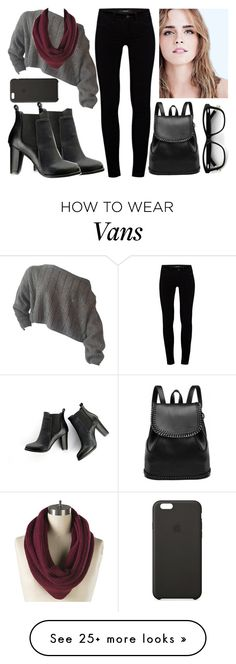 """""""Untitled #1143"""" by cheresh on Polyvore featuring J Brand, SWEET MANGO and Vans"""
