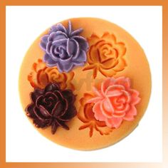 3 Cavity DIY Mold Flower Silicone Mould Jello Maker Handmade Soap Candle Mould