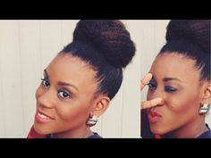 Heatless Blowout Bun Tutorial on Natural Hair - YouTube