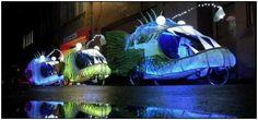 Giant Fluorescent Anglerfish Bikes Invade Sydney