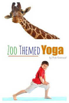 I love all the different yoga pose ideas for things you see at the zoo! A perfect addition to kids yoga and would go great with other zoo activities! - Pink OatmealLiving Things Living Things may refer to: The Zoo, Zoo Preschool, In Kindergarten, Gross Motor Activities, Preschool Activities, Dear Zoo Activities, Yoga For Kids, Exercise For Kids, Day Camp