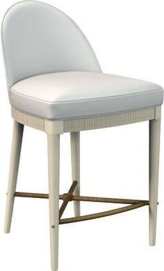 Kitchen island; Laurent Counter Stool from the Suzanne Kasler® collection by Hickory Chair Furniture Co.