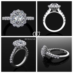 Such a Beautiful Round Halo Engagement Ring with so Much Detail! This is a Computer Generated Image!!! #yourdiamondgirl #designsbykamni #trustyourjeweler