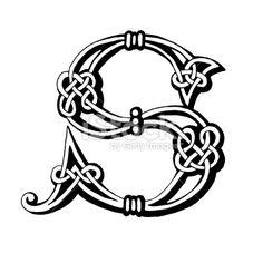 Celtic letter S royalty-free celtic letter s stock vector art & more images of alphabet Celtic Fonts, Celtic Symbols, Celtic Art, Celtic Dragon, Celtic Patterns, Celtic Designs, Design Celta, Letra Drop Cap, Letter S Tattoo