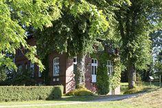 Morgens vor dem Gästehaus Dünenhaus.