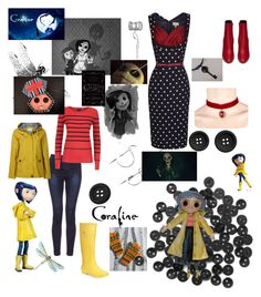 """""""Coraline & The Other Mother"""" by harliplier ❤ liked on Polyvore featuring Armani Jeans, White Stuff, Tommy Hilfiger and Yves Saint Laurent"""