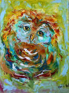 """October Owl"" par Karen Tarlton"