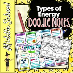Types of Energy Doodle Notes by The Morehouse Magic | Teachers Pay Teachers