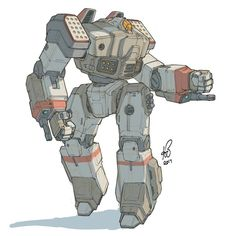 070 2017 Battletech Crusader… took a little more time than expected…  #mech #mecha #robot #sketch #quicksketch #sketcheveryday #sketchingisawesome #instaart #instaartist #cantstopdrawingbots #robotloversunite #sketchbookpro #autodesksketchbook...