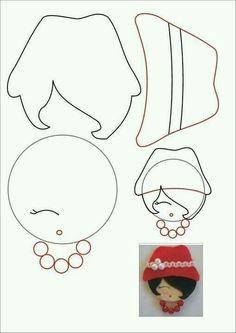 Resultado de imagem para desenhos de camafeu em feltro