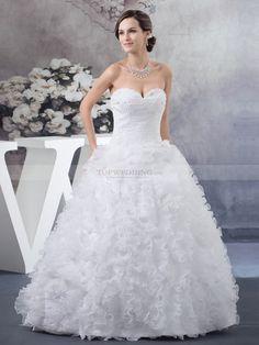 Marcianne - corte evasé strapless vestido de novia de satén con cuentas