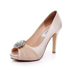 """satin Heel measures approximately 4.5 inches"""" bridal shoes heel high : 4inch wedding shoes for bride Fashion Design Dress Shoes for Party,Wedding Unique Design Wedding shoes for Women Heels: 4.5inch - Size: from US5-10/EUR35-42"""