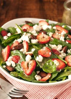 Recipe: Spinach & Strawberry Salad with Poppy Seed Dressing — Side Dish Recipes from The Kitchn