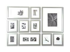 interior design, frame set, wall frames, photo galleri, craft idea, silver frame, photo idea, frame cluster, frame kit