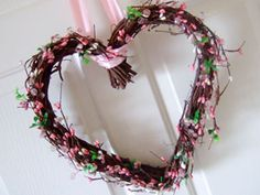 Valentine's day easy floral bead wreath.