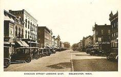 Coldwater Michigan MI 1920s Town Chicago Street Antique Vintage Postcard