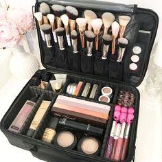 Best Professional Makeup Brushes Set - 24 Pc Cosmetic Make up - Beauty Blending for & Cream - Cute Makeup Guide Cute Makeup, Gorgeous Makeup, Diy Makeup, Makeup Geek, Cheap Makeup, Makeup Items, Makeup Box, Makeup Stuff, Makeup Case